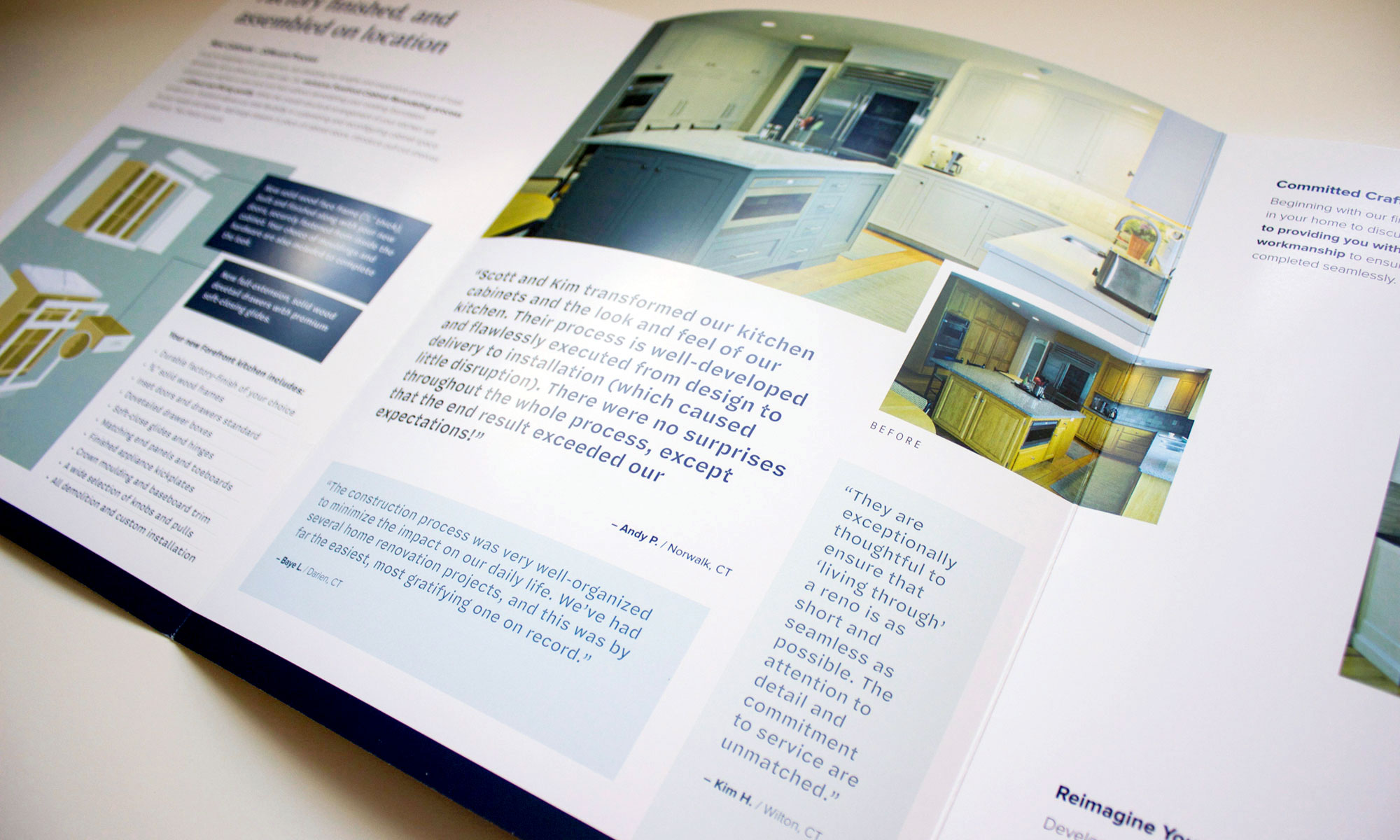brochure design and product or corporate overview design